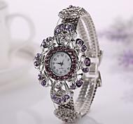2015  Hot Sale Fashion Casual Watch Women Dress Watches Flower Bracelet Ladies Wristwatch Original Female Clock