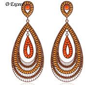 D Exceed  Women's Boho Style Beads Teardrop Big Dangle Earrings