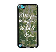 Personalized Phone Case - Wild and Free Design Metal Case for iPod Touch 5