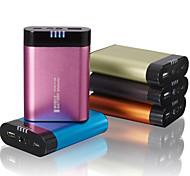 Power Bank 6600mAh LED light aluminum alloy shell External Battery for All Mobile Devices