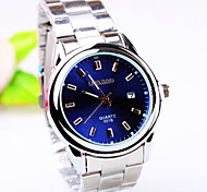Men's Business Round Dial PC Movement Steel Strap Fashion Life Waterproof Quartz Watch Wrist Watch Cool Watch Unique Watch
