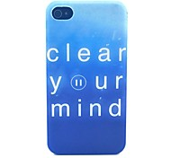 limpieza pattern pc caja del teléfono material de la mente para el iphone 4 / 4s
