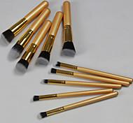 10 pcs Golden Qualtiy Makeup Brush Set