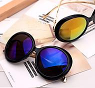 Sunglasses Women's Sports / Fashion Round Black / Mustard / Brown / Blue Sunglasses / Driving Full-Rim