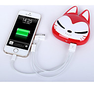 High-quality Cartoon Cat Mobile Power Charging Treasure Universal Mobile Power Bank Smartphones