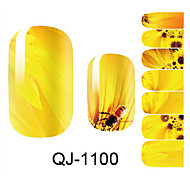 Beautiful Flower Fairy Sunflower Nail Art Stickers