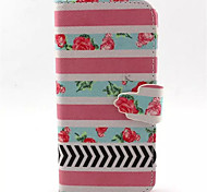 Pink  Pattern PU Leather Phone Case  For iPhone 5/5S