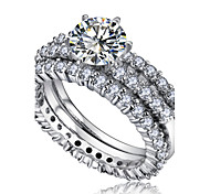 European Style Fashion Shiny Zircon Bridal Ring