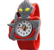 Children's Cute Cartoon Silicone Ultraman Pattern   Lovely Digital Quartz Slap Watch