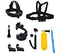 ourspop gp-k24 kit pour GoPro Hero 4 3 + / 3/2/1 caméra 8-en-1 accessoires