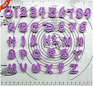 Numéro fondant outils gâteau de décoration police de bande dessinée coupe alphabet lettres Lutter mis en plastique ensemble de 36