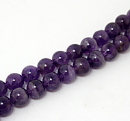 Beadia 39Cm/Str (Approx 48Pcs) Natural Amethyst Beads 8mm Round Purple Stone Loose Beads DIY Accessories