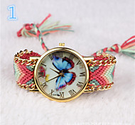 Women Watch Watch Colorful Butterfly Woven Bracelet Bohemia Watch