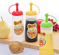 Oil Condiment Squeeze Bottle  Ketchup Mustard Sauce with Plastic Cap (Random Color)