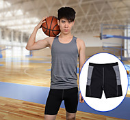 Men's Breathable Quick-Dry Tight Running Fitness Shorts - Black (Size M/L/XL)