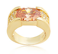 Size 8/9/10/11/12 High Quality Women Orange Sapphire Rings 10KT Yellow Gold Filled Ring