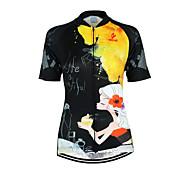 Mailliot -( Voir l'image ) de Cyclisme/Ski de fond - Respirable/Séchage rapide/Zip frontal/Design Anatomique/mèche  à Manches courtes