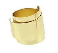 Punk Style Cheap Gold Plated Women Big Ring