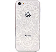 holle bloempatroon ultradunne harde hoesje voor iPhone 5c