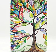 Colorful Tree Pattern PU Leather Full Body Case with Stand for Ipad Air 2 Ipad 6
