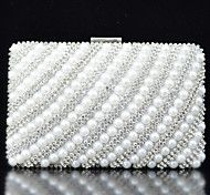 Handbag Satin/Metal/Imitation Pearl Evening Handbags With Crystal/ Rhinestone/Pearl