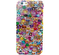 Lovely Face Pattern Glitter TPU Cell Phone Soft Shell  For iPhone 6
