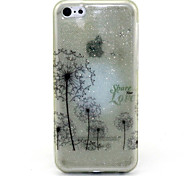 Dandelion Pattern Glitter TPU Cell Phone Soft Shell For iPhone 5C