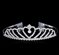 2015 Korean Bride Jewelry Crown Sterling Silver/Crystal Tiaras Wedding/Party 1pc