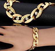 Men's Chain Bracelet Vintage Bracelet Imitation Diamond Fashion Statement Jewelry PersonalizedRhinestone Platinum Plated Gold Plated