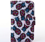 Pineapple Pattern PU Leather Full Body Case with Stand for Multiple Samsung Galaxy S5Mini/S4Mini/S3Mini