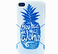 White Pineapple Pattern TPU Material Phone Case for iPhone 4/4S