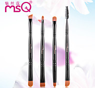 MSQ® 4pcs Makeup Brushes set Black Eyebrow Brush Foundation Brush Rod Double Fiber Makeup Kit Cosmetic Brushes