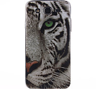 White Tiger Pattern TPU Soft Case for Samsung Galaxy Mega 5.8 I9150 I9152