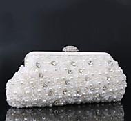 Women's Noble Hand Pearl Flowers Set Drill Evening Handbags