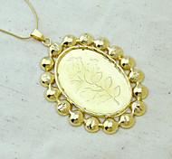 18K Golden Plated Rose Pendant