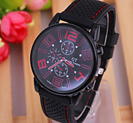 Men's Watch Fashion Simple Type Silicone Strap Watch