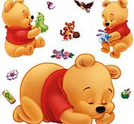Cartoon Lovely Winnie The Pooh PVC Static Sticker Glass Decals