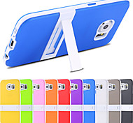 For Samsung Galaxy Case with Stand Case Back Cover Case Solid Color TPU Samsung S6