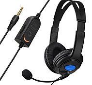 Wired Gaming Chat Stereo Bass Dual Ear Cup Headset headphone with Microphone boom MIC for PS4