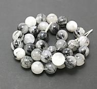 Beadia 39Cm/Str (Approx 32Pcs) Natural Black Rutilated Quartz Beads 12mm Round Stone Loose Beads DIY Accessories