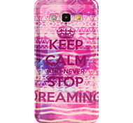Never stop dreaming Pattern TPU Soft Case for Galaxy A8