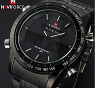 Luxury Men Steel Watch Fashion Quartz Analog Digital LED Sport Watch(Assorted Colors)