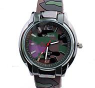 Xu™ Men's Fashion Leisure Land/Sea And Air Popular Camouflage Army Green Silicone Quartz Watch