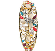 Sjeweler Lady's Crystal Enamel Flower Bracelet Bangle