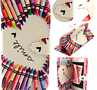 Colorful Pencil Pattern with Card Bag Full Body Case for iPhone 6