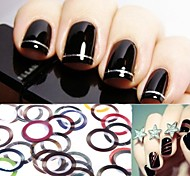 30PCS Mixs Color Striping Tape Line Nail Stripe Tape Nail Art Decoration Sticker