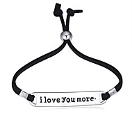 European Style Fashion Rope Letter i love you more Bracelet inspirational bracelets