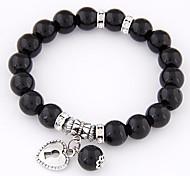 Cool Summer Fashion Wild Personality Metal Love Lock Beads Bracelets