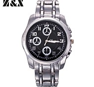 Men's Fashion Contracted Three Eyes Six Stitches Quartz Analog Stainless Steel Wrist Watch(Assorted Colors)