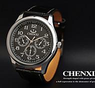 CHENXI® Men's Dress Watch Classic Design Black Leather Strap
